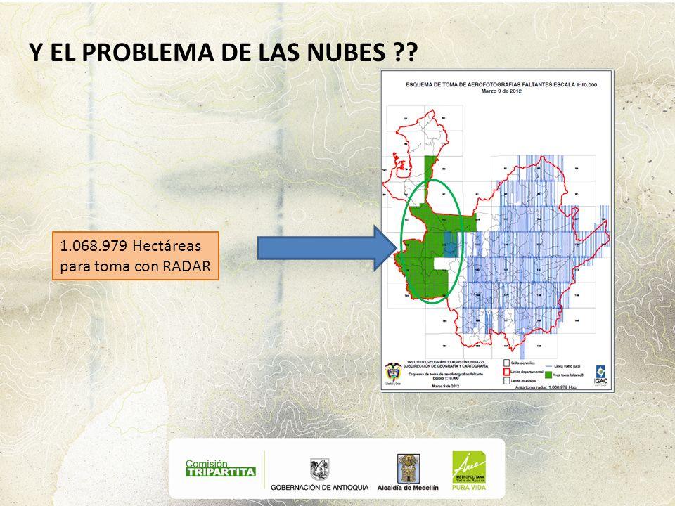 Y EL PROBLEMA DE LAS NUBES ?? 1.068.979 Hectáreas para toma con RADAR