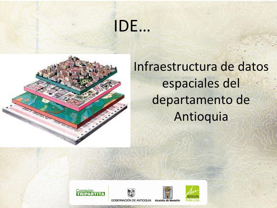 IDE… Infraestructura de datos espaciales del departamento de Antioquia