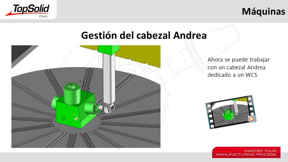 Máquinas Gestión del cabezal Andrea Ahora se puede trabajar con un cabezal Andrea dedicado a un WCS