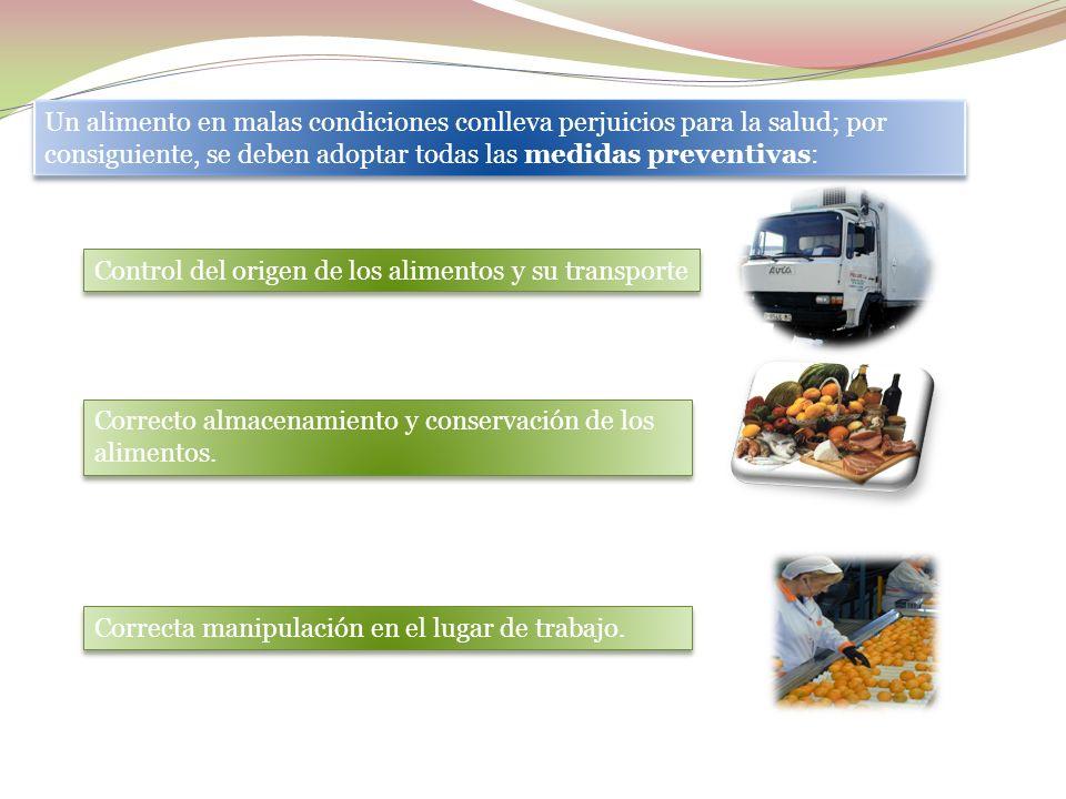 Presencia de gérmenes en el alimento que entra en nuestra industria, por que venga contaminada de origen o por su contaminación durante el transporte.