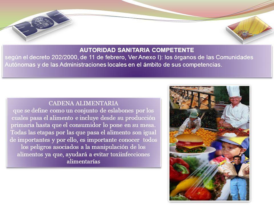 MANIPULADORES DE MAYOR RIESGO (según el decreto 202/2000, de 11 de febrero, Ver Anexo I): los manipuladores de alimentos cuyas prácticas de manipulaci