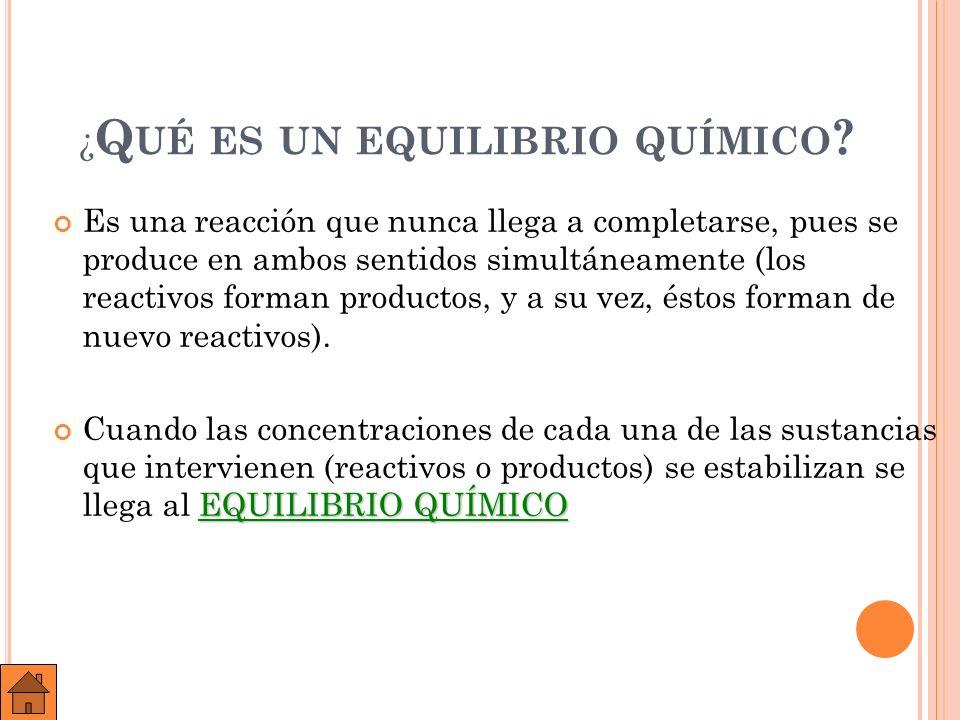 E QUILIBRIO (H 2 + I 2 2 HI)