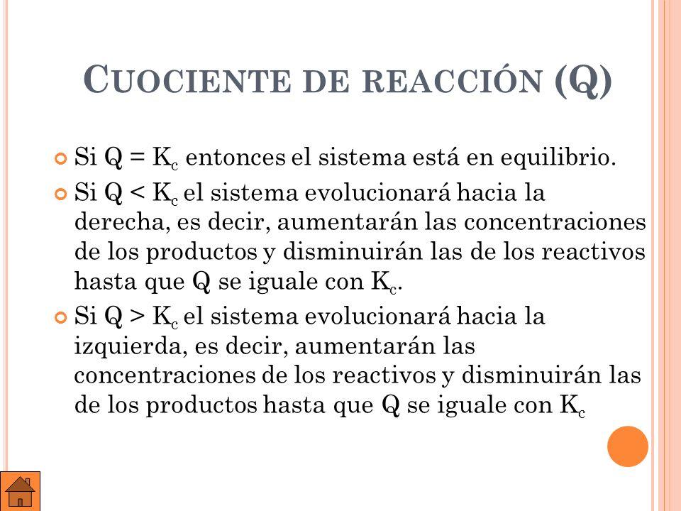A ) B ) E JEMPLO : E N UN RECIPIENTE DE 3,0 LITROS SE INTRODUCEN 0,60 MOLES DE HI, 0,30 MOLES DE H 2 Y 0,30 MOLES DE I 2 A 490 º C.