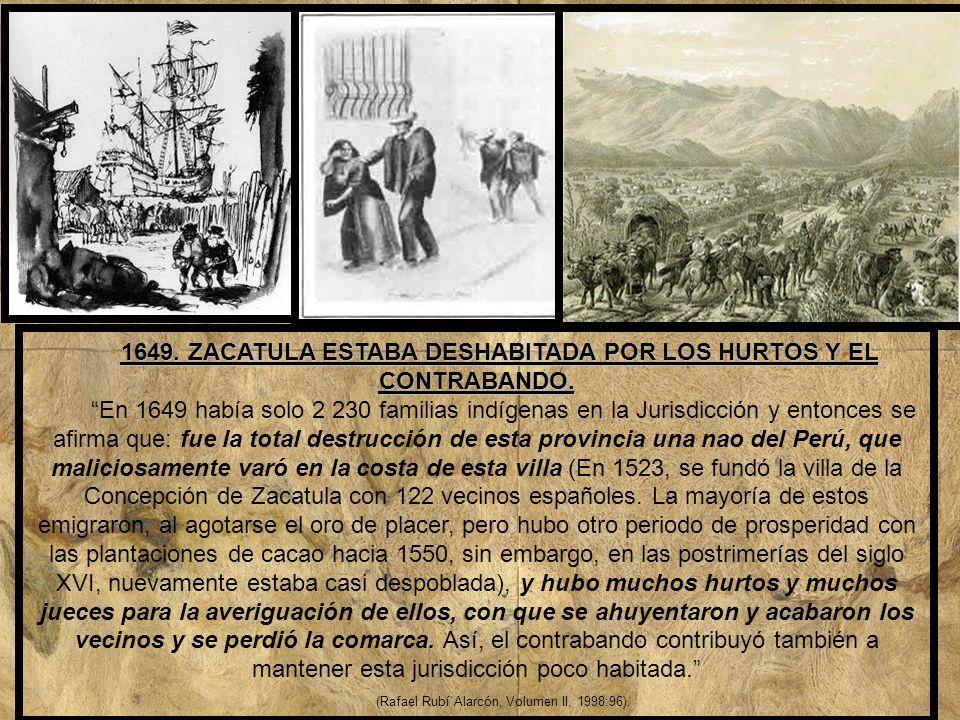 1646, POR LA PRIMERA ADUANA EN ACAPULCO, SE INICIA EL PRIMER CONTRABANDO EN LA NUEVA ESPAÑA, POR ZIHUATANEJO.