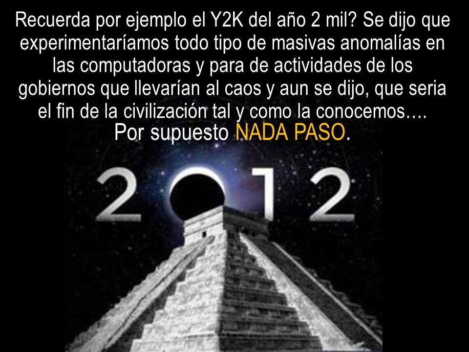 Recuerda por ejemplo el Y2K del año 2 mil? Se dijo que experimentaríamos todo tipo de masivas anomalías en las computadoras y para de actividades de l