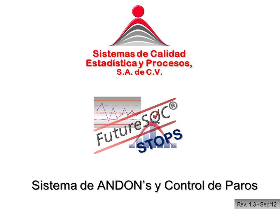 Regresar Códigos de Paros El FutureSQC® Stops, puede manejar cualquier cantidad de Paros, Áreas, Departamentos, Motivos y demás elementos de la clasificación del Código.