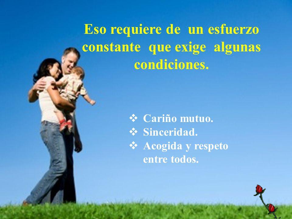 La comunicación en la familia de ambos padres y de ellos con los hijos y luego entre ellos configura vínculo de afecto y referencia de actuación para