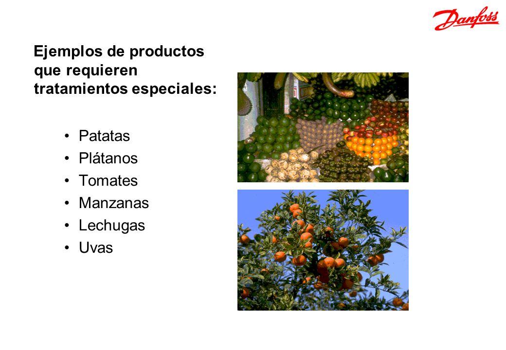 Patatas Plátanos Tomates Manzanas Lechugas Uvas Ejemplos de productos que requieren tratamientos especiales: