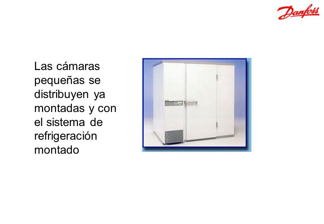 Las cámaras pequeñas se distribuyen ya montadas y con el sistema de refrigeración montado
