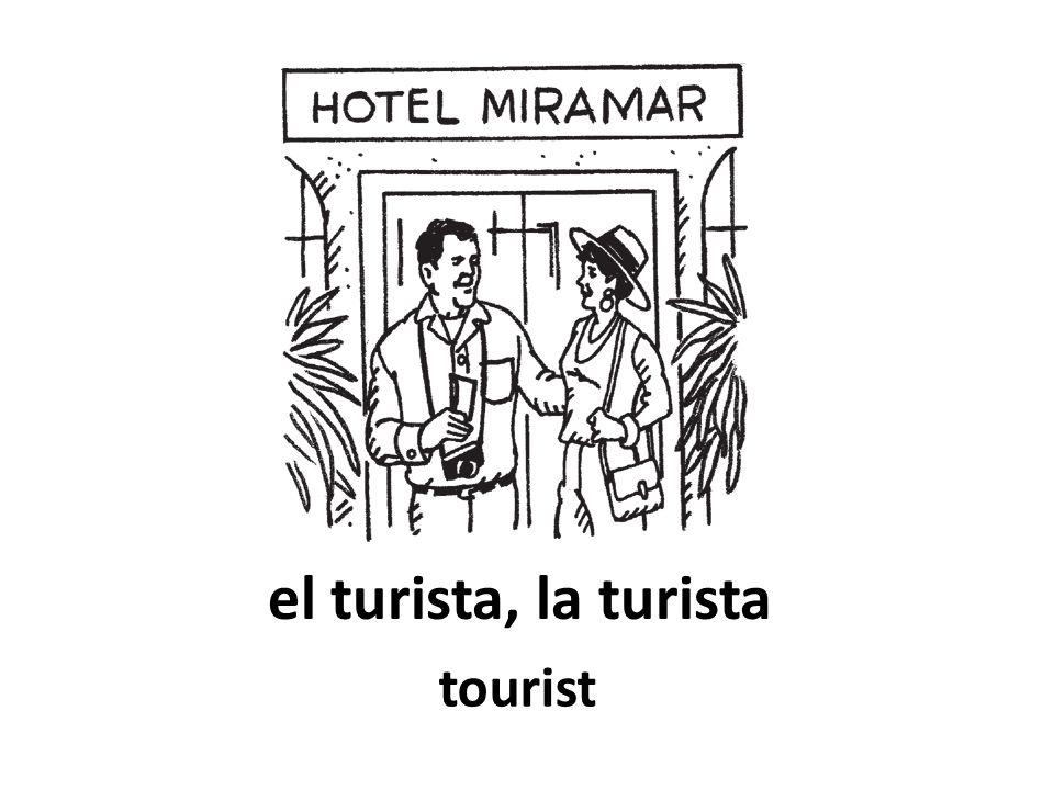 el turista, la turista tourist