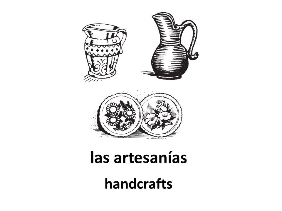 las artesanías handcrafts