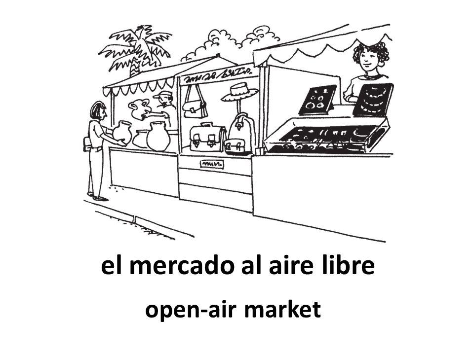 el mercado al aire libre open-air market