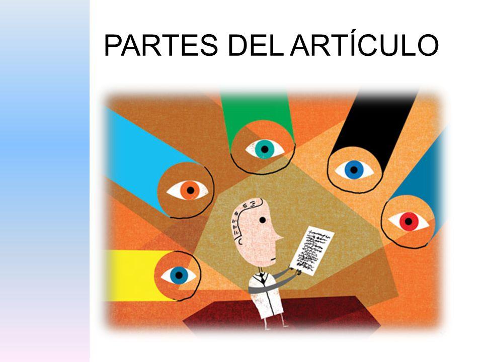 PARTES DEL ARTÍCULO