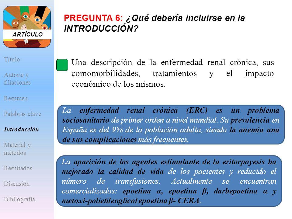 A.Una descripción de la enfermedad renal crónica, sus comomorbilidades, tratamientos y el impacto económico de los mismos. La enfermedad renal crónica