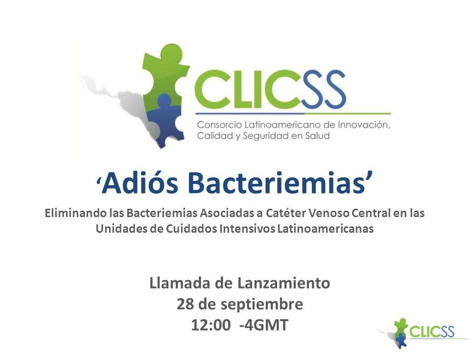 Adiós Bacteriemias Eliminando las Bacteriemias Asociadas a Catéter Venoso Central en las Unidades de Cuidados Intensivos Latinoamericanas Llamada de L