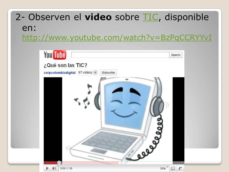 PREGUNTAS DISPARADORAS PARA REFLEXIÓN sobre TIC: Con el video sobre TIC: ¿Qué opinan del acceso a las nuevas tecnologías.