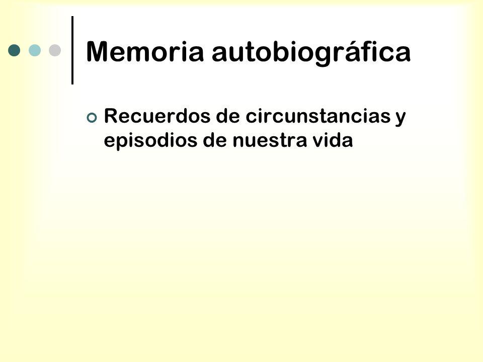 Memoria autobiográfica Recuerdos de circunstancias y episodios de nuestra vida