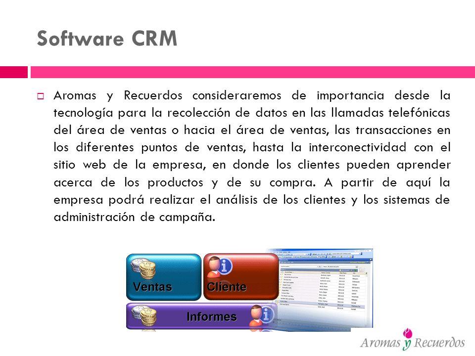 Software CRM Aromas y Recuerdos consideraremos de importancia desde la tecnología para la recolección de datos en las llamadas telefónicas del área de