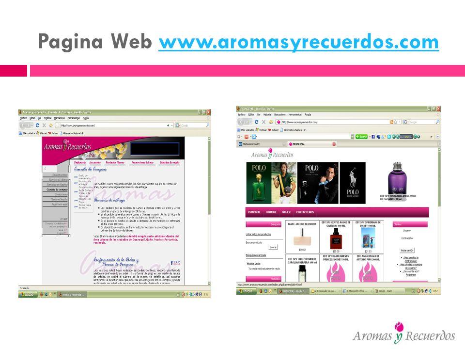 Pagina Web www.aromasyrecuerdos.comwww.aromasyrecuerdos.com
