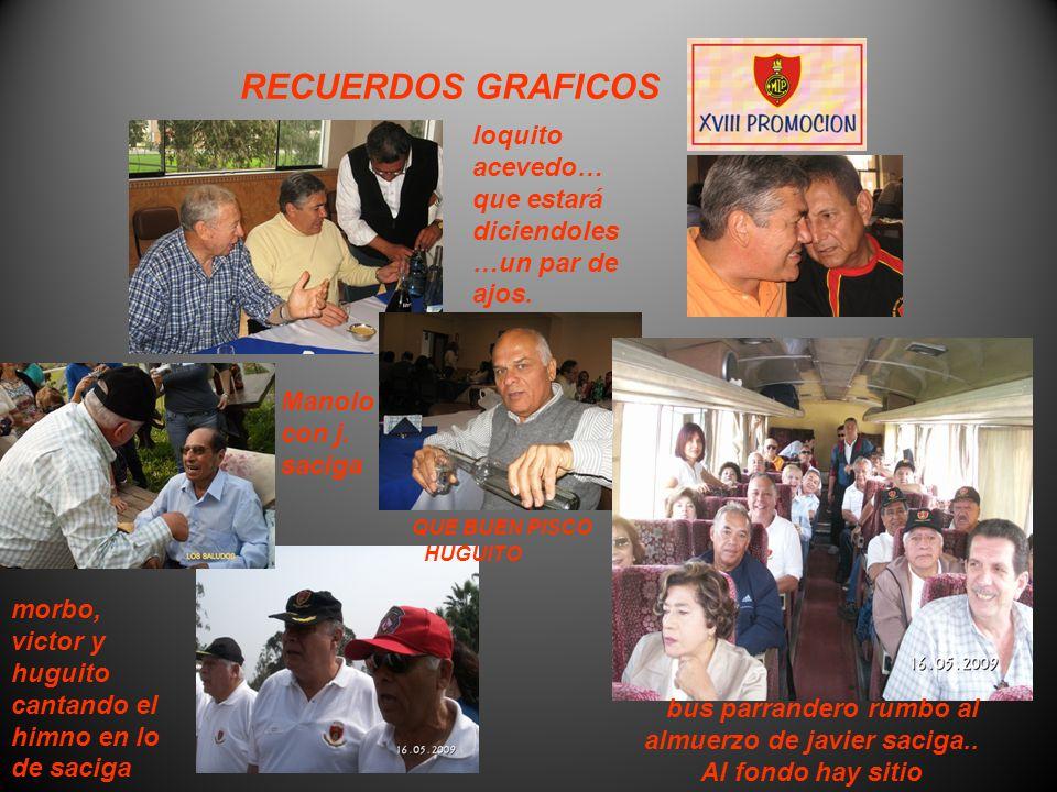 RECUERDOS GRAFICOS Cumpleaños de Javier Saciga, se aprecia unión y camaredería y este colage es en honor a él.