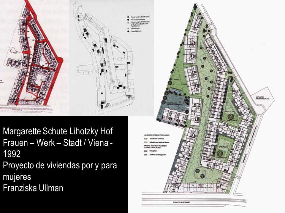 Margarette Schute Lihotzky Hof Frauen – Werk – Stadt / Viena - 1992 Proyecto de viviendas por y para mujeres Franziska Ullman