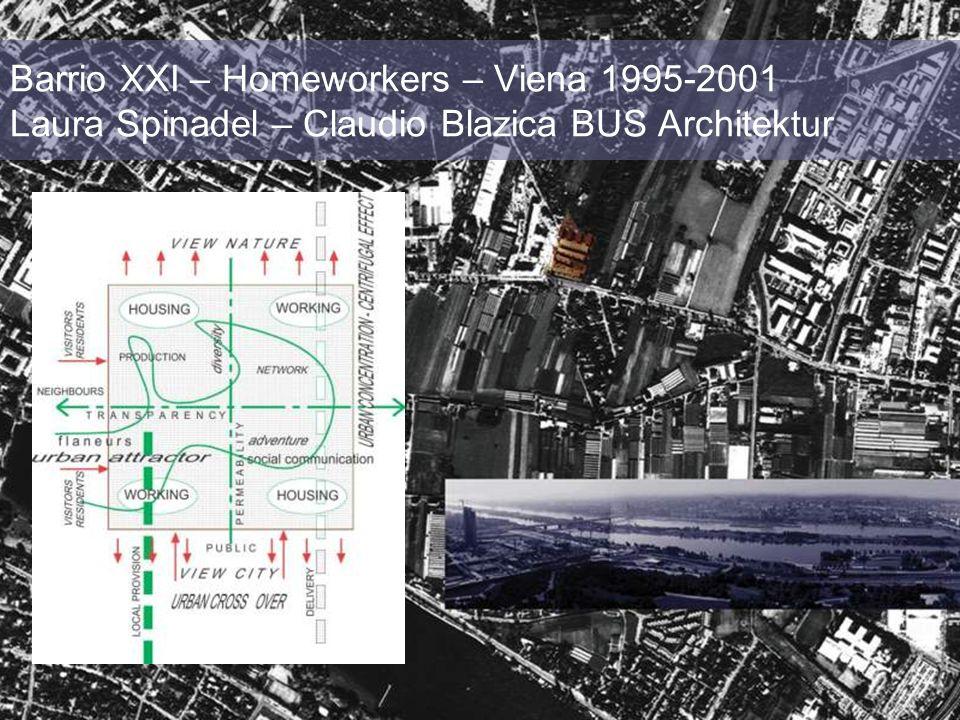 Barrio XXI – Homeworkers – Viena 1995-2001 Laura Spinadel – Claudio Blazica BUS Architektur