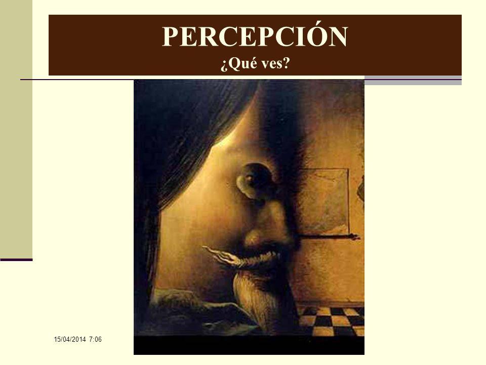 15/04/2014 7:08 PERCEPCIÓN ¿Qué ves