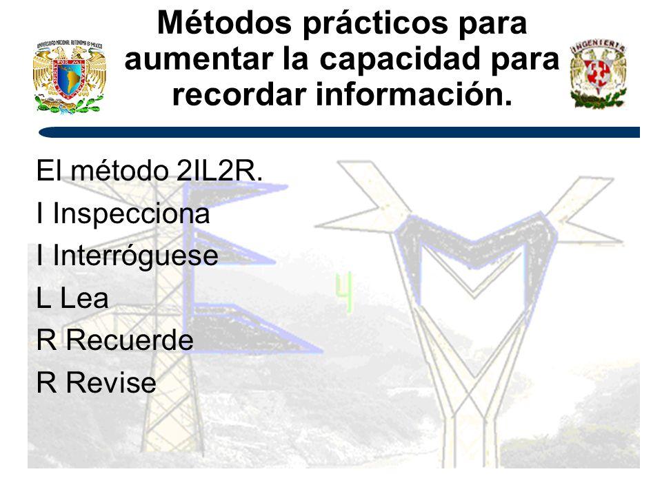 Métodos prácticos para aumentar la capacidad para recordar información.