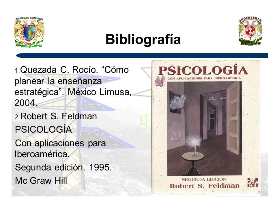 Bibliografía 1.Quezada C. Rocío. Cómo planear la enseñanza estratégica.