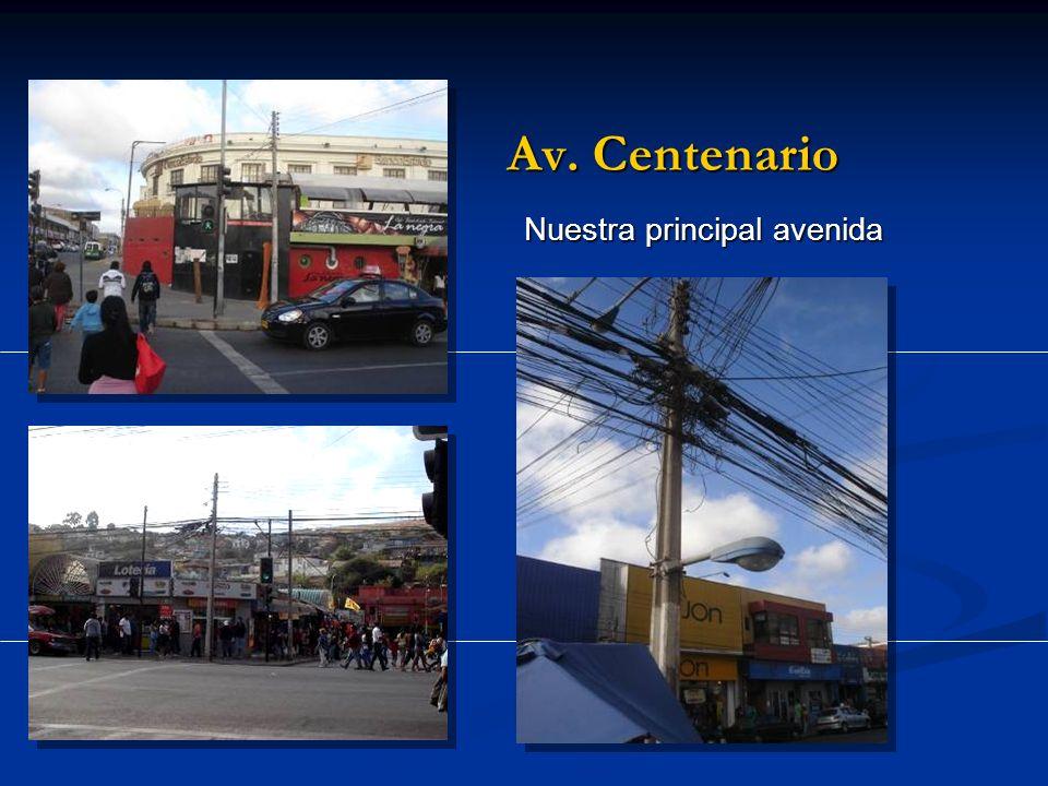 Av. Centenario Nuestra principal avenida