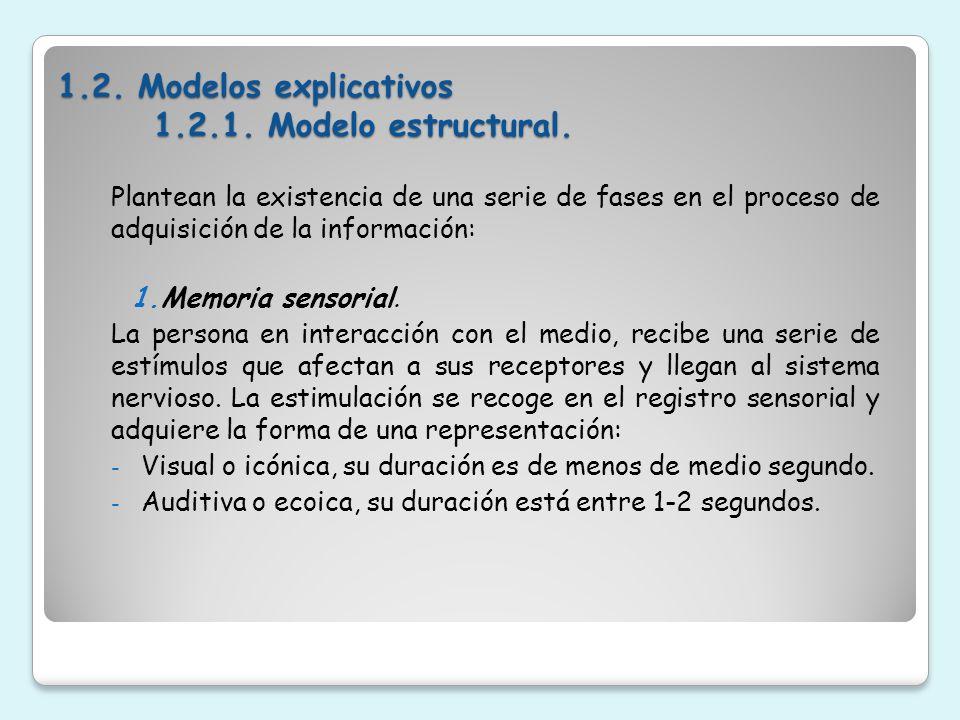 2.Memoria a corto plazo.En ella la información es codificada de nuevo bajo la forma conceptual.
