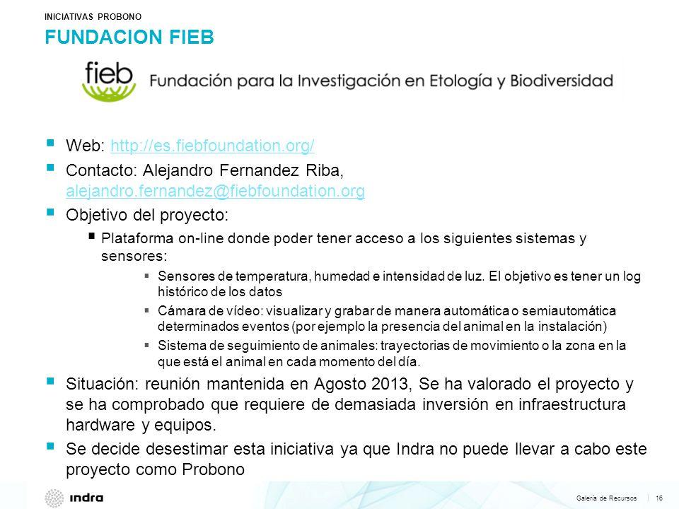 Galería de Recursos 16   FUNDACION FIEB Web: http://es.fiebfoundation.org/http://es.fiebfoundation.org/ Contacto: Alejandro Fernandez Riba, alejandro.
