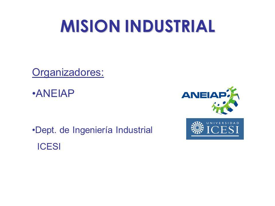 MISION INDUSTRIAL Organizadores: ANEIAP Dept. de Ingeniería Industrial ICESI
