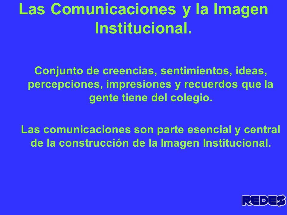La Imagen Institucional La imagen de la escuela se forja a través de lo que la misma hace, de los mensajes que emite hacia el interior y exterior de s