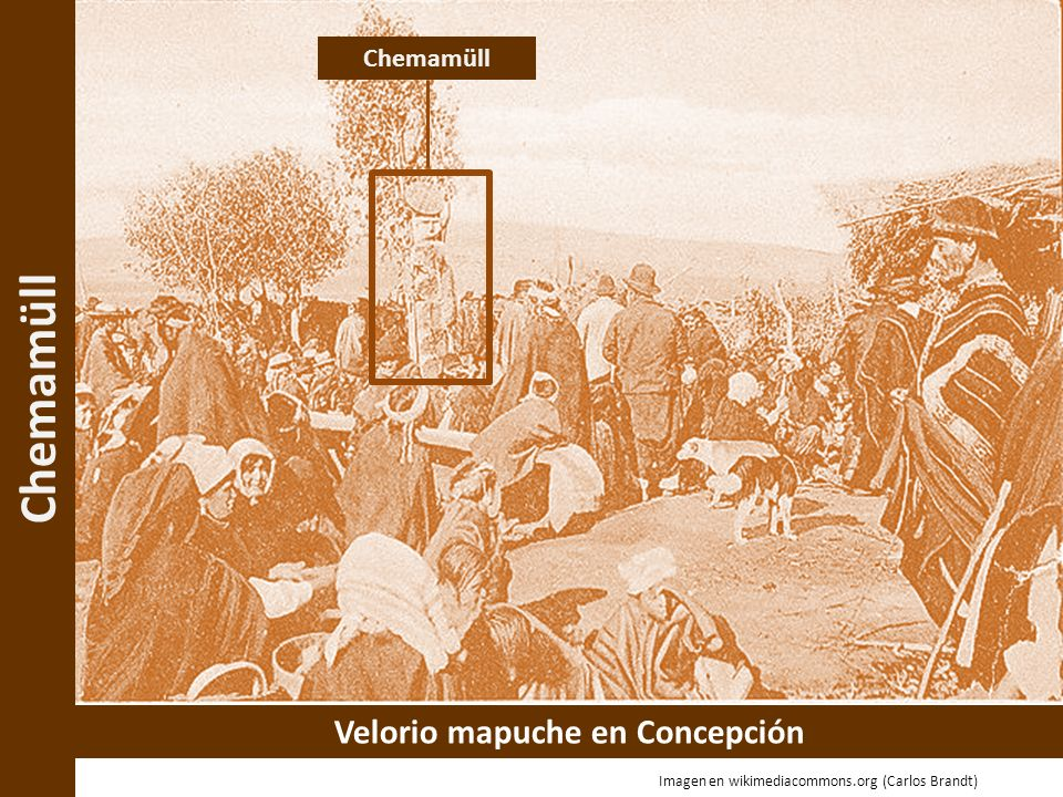 Chemamüll Velorio mapuche en Concepción Chemamüll Imagen en wikimediacommons.org (Carlos Brandt)
