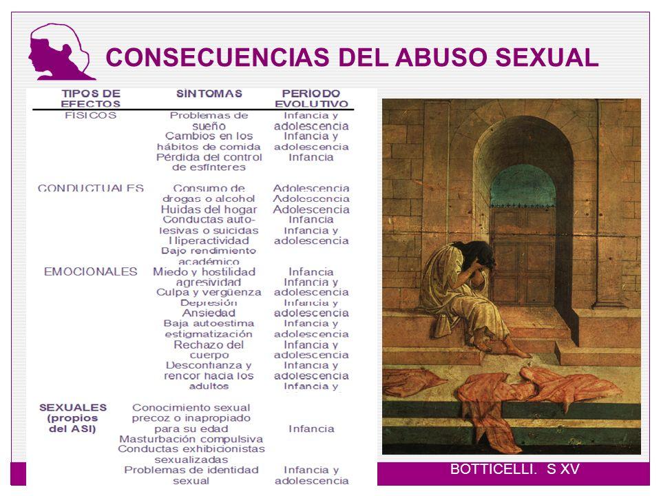 CONSECUENCIAS DEL ABUSO SEXUAL BOTTICELLI. S XV