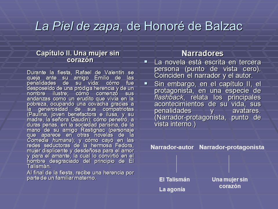 La Piel de zapa, de Honoré de Balzac Capítulo II. Una mujer sin corazón Capítulo II. Una mujer sin corazón Durante la fiesta, Rafael de Valentín se qu