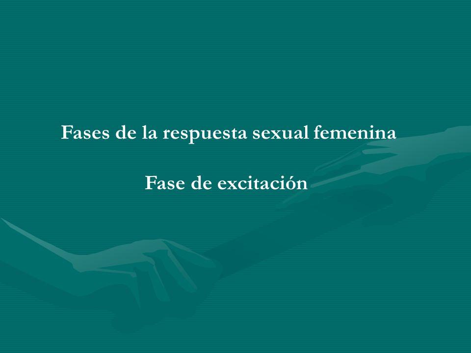 Fases de la respuesta sexual femenina Fase de excitación