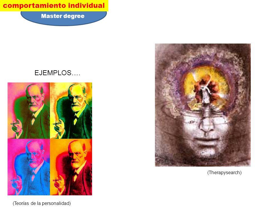 EJEMPLOS…. (Teorías de la personalidad) (Therapysearch) comportamiento individual Master degree
