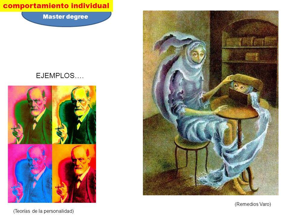 EJEMPLOS…. (Teorías de la personalidad) (Remedios Varo) comportamiento individual Master degree