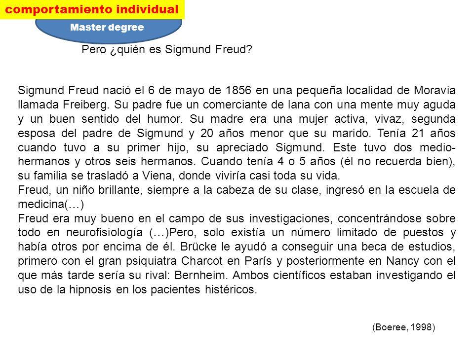 Pero ¿quién es Sigmund Freud? Sigmund Freud nació el 6 de mayo de 1856 en una pequeña localidad de Moravia llamada Freiberg. Su padre fue un comercian