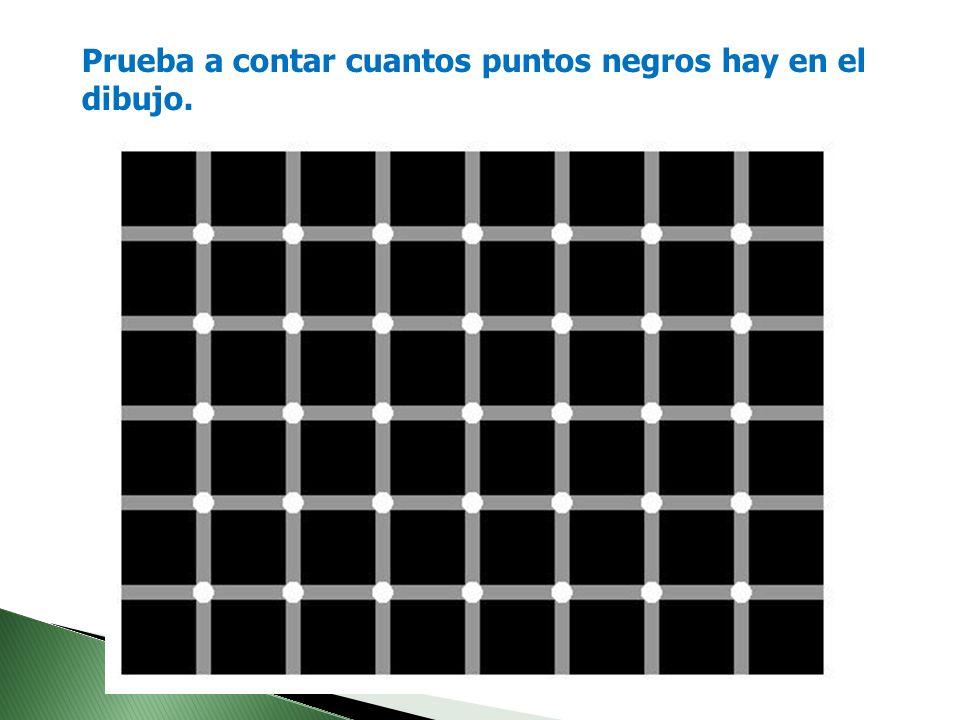Prueba a contar cuantos puntos negros hay en el dibujo.