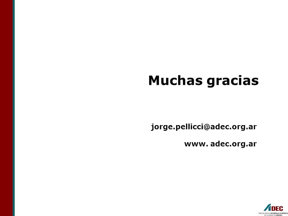 Muchas gracias jorge.pellicci@adec.org.ar www. adec.org.ar