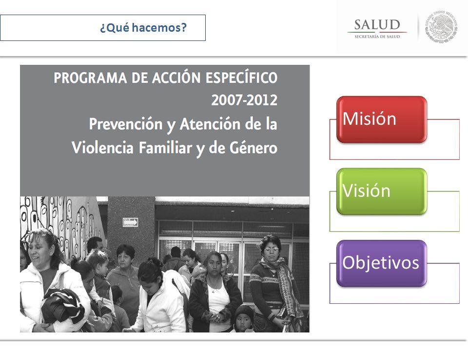 MisiónVisiónObjetivos ¿Qué hacemos?