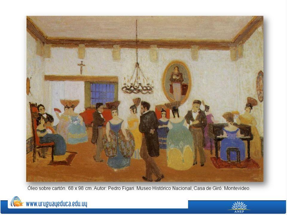 Óleo sobre cartón. 68 x 98 cm. Autor: Pedro Figari. Museo Histórico Nacional, Casa de Giró. Montevideo.