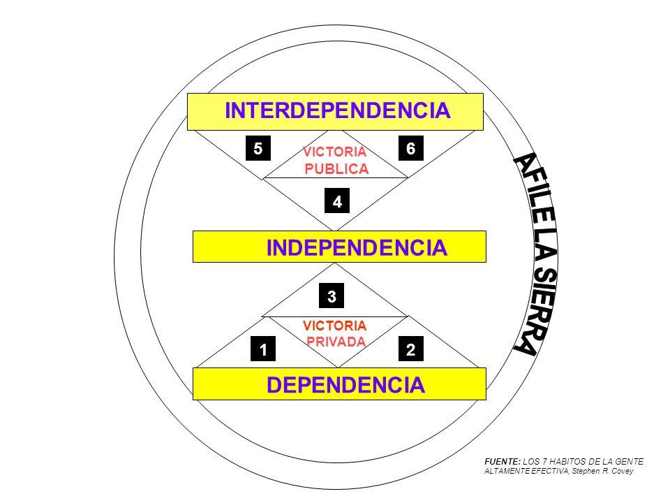 GRADOS DE MADUREZ DEPENDENCIA CONTRADEPENDENCIAINDEPENDENCIA INTERDEPENDENCIA EDAD INSTRUCCIÓN JERARQUÍA ANTIGÜEDAD NO NECESARIAMENTE FORMA DE TRATAR