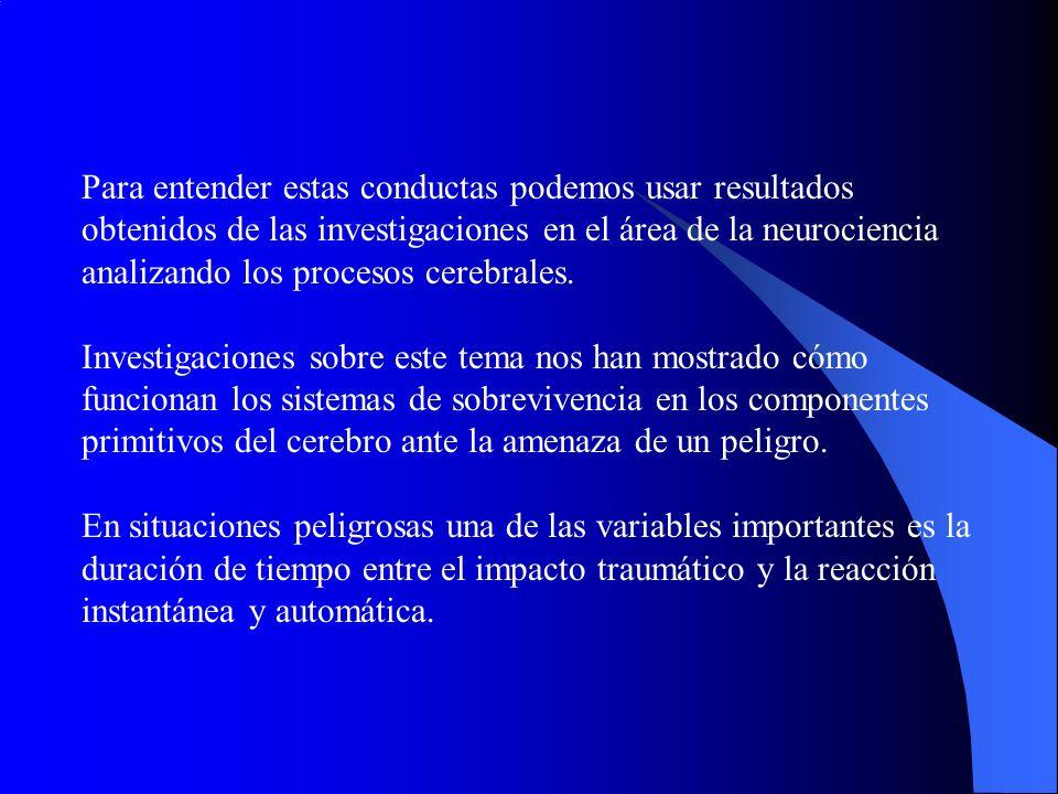 Es necesario que las acciones se practiquen repetidamente dentro de una situacion muy parecida al evento para predecir el peligro.