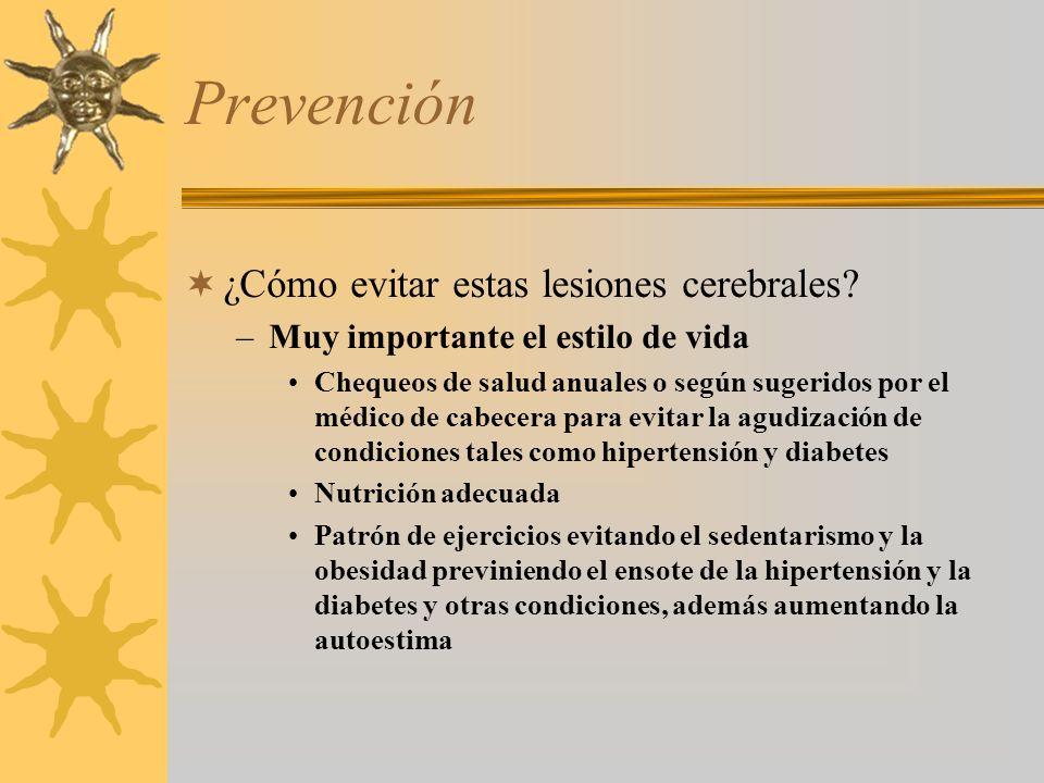 Prevención ¿Cómo evitar estas lesiones cerebrales.