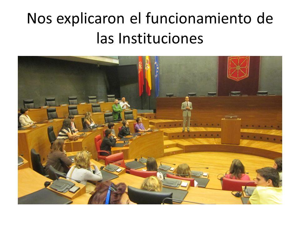 Nos explicaron el funcionamiento de las Instituciones