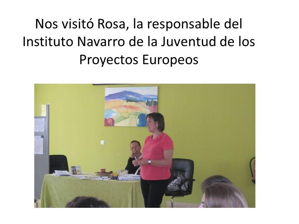 Nos visitó Rosa, la responsable del Instituto Navarro de la Juventud de los Proyectos Europeos